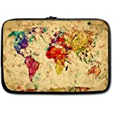 "Coody Vintage Retro Style World Map Laptop Sleeves 13"" 13.3"" inch Compatible for Apple Macbook Pro/Air/Samsung 900X3 530 535U3/Dell Vostro inspiron 13/ ASUS /SONY SD4 13/ ACER 13/ThinkPad X1 L330 E330"