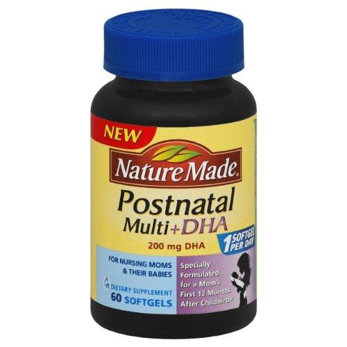 Nature Made Postnatal Multivitamins + Dha (200 Mg) 60 Softgels - Pack Of 2 Bottles
