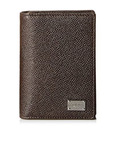 Dolce & Gabbana Men's Leather Wallet, Testa Di Moro