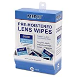 Lens Cleaning Wipes Towelette Dispenser Pre-Moistened (Pack of 200)