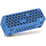 KitSound Hive Bluetooth Wireless Portable Stereo Speaker for iPod/iPhone/iPad/Android/Windows Devices - Blue