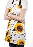 Freckled Sage Genuine Oilcloth Products Apron, Sunflower