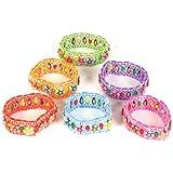 Stretch Flower Bracelets - 12 per unit