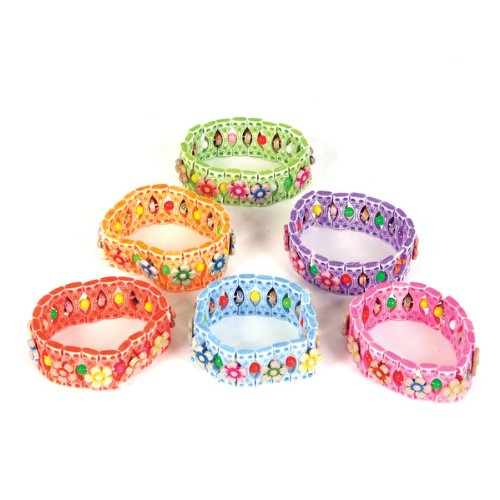 Stretch Flower Bracelets - 12 per unit - 1