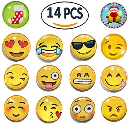 Limbridge 12-Pack 3D Funny Emoji Magnets for School Lockers Accessories, Cute Fridge Refrigerator Magnet (Emoji Fridge Magnets compare prices)