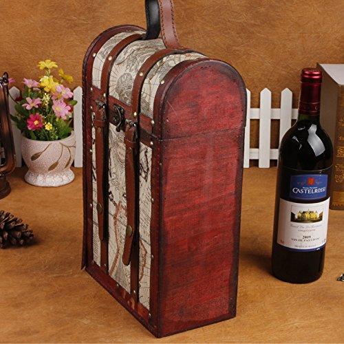 YZL/ Vintage wine package. double wine box. antique box. fashion gift box