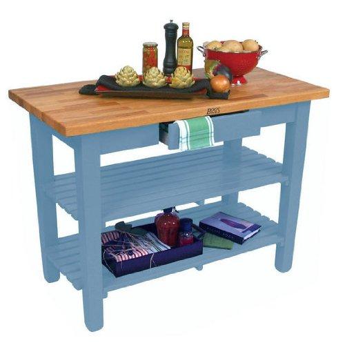 John Boos Oak Table Boos Block, 48 Inch X 25 Inch X 1-1/2 Inch, Sporty Blue