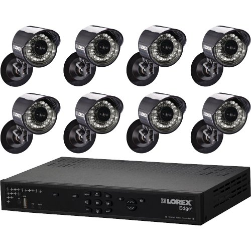 Lorex Corp 8 Cameras & 16 Channel 1TB DVR Video Security System Bundle