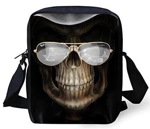 Cool crâne Impression Sac à main FOR U DESIGNS Customized Sacs à bandoulière pour hommes Sacs Messenger Petit Enfants Garçons Crossbody Des sacs