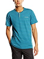 Columbia Camiseta Manga Corta Lookout Point Henley (Turquesa)