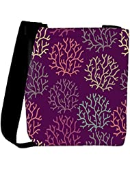 Snoogg Seamless Pattern With Leaf Seamless Texture Can Be Used For Wallpaper Womens Carry Around Cross Body Tote...