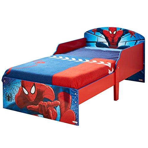 worlds-apart-wap-spiderman-lettino-con-testata-e-doghe-mdf-multicolore-59x77x142-cm