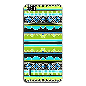 Mozine Green Tribal Pattern printed mobile back cover for Huawei Honor 6
