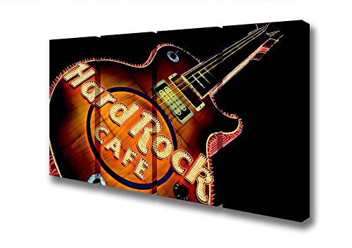 four-panel-hard-rock-cafe-guitar-canvas-art-prints-large-32-x-64-inches
