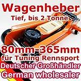 [TT600A] Low Profile Wagenheber, 80-365mm, 2T, RacingWagenheber, Sportwagen, Rennsport