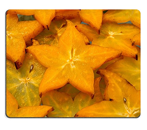 Liili Mouse Pad Natural Rubber Mousepad carambola tropical star fruit in asia Image ID 23131232 (Perpetual Sliding Calendar compare prices)