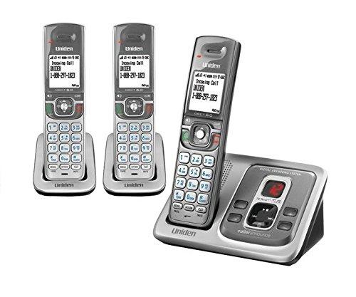 Uniden D2380-3 Dect 6.0 Cordless Phone System: 3 Handsets, Talking Caller Id, Hd Audio, Answering, Speakerphone, Headset Jacks, 200-Number Phonebook
