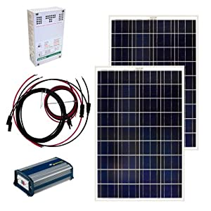 Grape Solar GS-200-KIT 200-Watt Off-Grid Solar Panel Kit by Grape Solar
