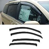 VIOJI 4pcs Dark Smoke Outside Mount Style Sun Rain Guard Vent Shade Window Visors Fit 11-15 Toyota Sienna All Models