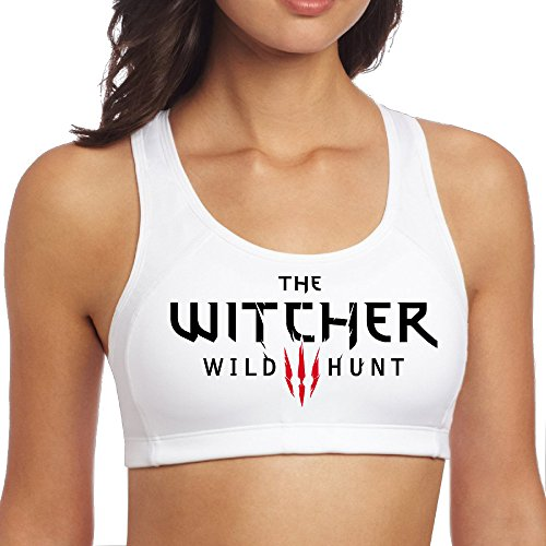 [XJBD Women's Particular Wild Video Game Logo Hunt Yoga Vest White M] (Geralt Witcher 3 Costume)