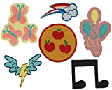 Set of 6 My Little Pony Cutie Mark Patches