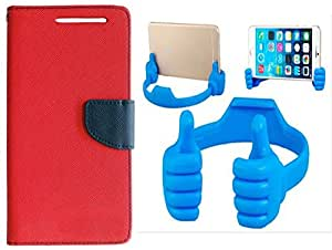 Novo Style Book Style Folio Wallet Case Nokia Lumia 630 Red + Ok Stand For Smartphones And Tablets