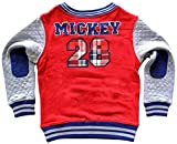 Mad Engine Little Boys' Disney Mickey 28 Embroidered Red Sweatshirt
