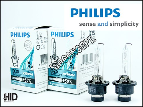 Philips X-Treme Vision +50% D2S Xenon Hid Bulbs Pack Of 2 (By Xenon Corp)