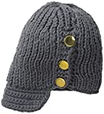 La Fiorentina Women's Knit Hat with Brim and Buttons