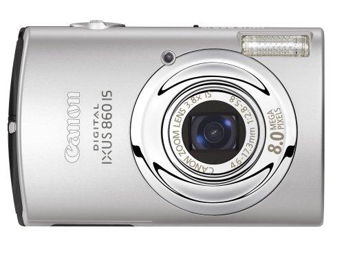 Canon IXUS 860 IS Digital Camera - Silver (8.0MP, 3.8x Optical Zoom) 3.0