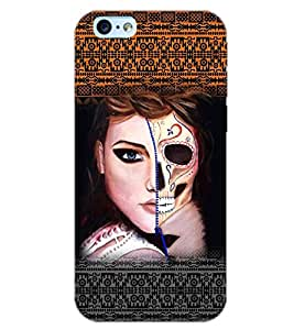 PrintDhaba DUAL IMAGE GIRL D-6480 Back Case Cover for APPLE IPHONE 6 PLUS (Multi-Coloured)