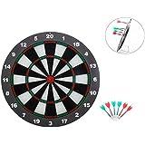 AOQING Safety Dartboard Set Soft Tip Safety Darts And Dart Board-16 Inch Stipple Dart Board