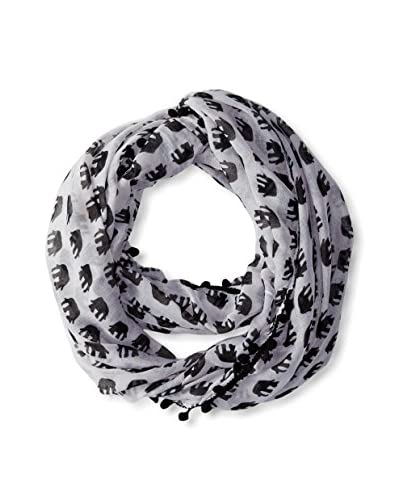 Evelyn K Women's Elephant Infinity Scarf, Black