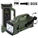 L-911 9 in 1 LED Multiple Function Light System with FM Radio, LED Flashlight + Compass + Hand Wind Generator + SOS Function ~.