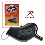 Rothco Windstorm Safety Whistle in Black