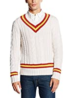 Goodwood by Belstaff Jersey Bromwich (Blanco / Rojo / Amarillo)
