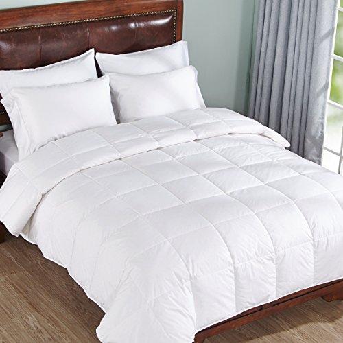 new lightweight warm down comforter cotton 550 fill power white twin size ebay. Black Bedroom Furniture Sets. Home Design Ideas