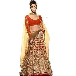 Navratri Special Red & Golden Lehenga Choli
