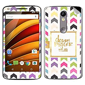 Bigger than life Moto X Force decal (Skin)