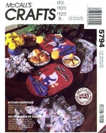 McCall's 5794 Sewing Pattern Crafts Goose Doll Kitchen Essentials