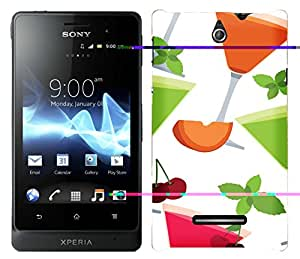 WOW Printed Designer Mobile Case Back Cover For Sony Xperia E