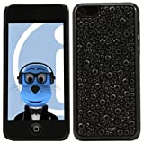 ITALKonline FunkGem BLACK Diamonte Crystals Super Hydro Gel Protective Armour/Case/Skin/Cover/Shell for Apple iPhone 5C (2013)