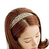 Bandeaux, Yogogo Style Coréen femmes Bijoux accessoires de perles de cristal de cheveux bande de cheveux