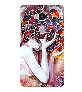 Wonderful Woman Painting 3D Hard Polycarbonate Designer Back Case Cover for Huawei Honor 5X :: Huawei Honor X5 :: Huawei GR5