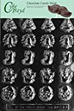 Cybrtrayd C161 Bite Size Assorted X-Mas Life of the Party Chocolate Candy Mold with Exclusive Cybrtrayd Copyrighted Chocolate Molding Instructions
