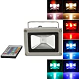 NowAdvisor® Colorful 10w RGB LED Flood Light Landscape Lamp + Remote Control