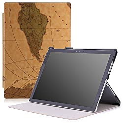 MoKo Microsoft Surface Pro 4 Case - Ultra Slim Lightweight Smart-shell Stand Cover Case for Microsoft Surface Pro 4 12.3 inch Tablet, Map H