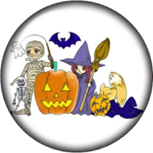 Snap button Halloween Mummy Witch Pumpkin Bat 18mm Cabochon chunk charm (Pandora The Witch Costume)