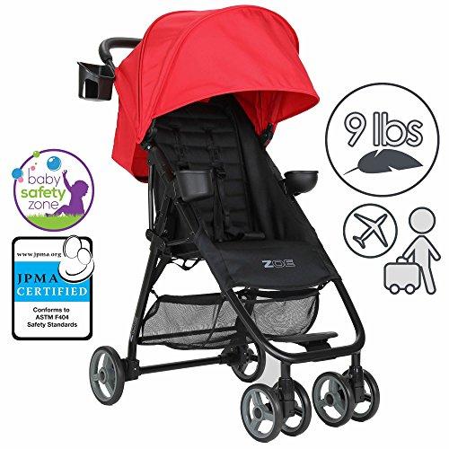 ZOE-XL1-BEST-Xtra-Lightweight-Travel-Everyday-Umbrella-Stroller-System-Red