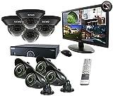 Revo R165D4GB4GM21-2T 16 Channel 2TB 960H DVR Surveillance System with 8 700TVL 100-Feet Night Vision Cameras and 21.5-Inch Monitor (Black)